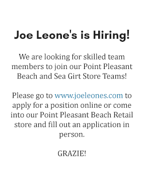 Joe Leone's Hiring