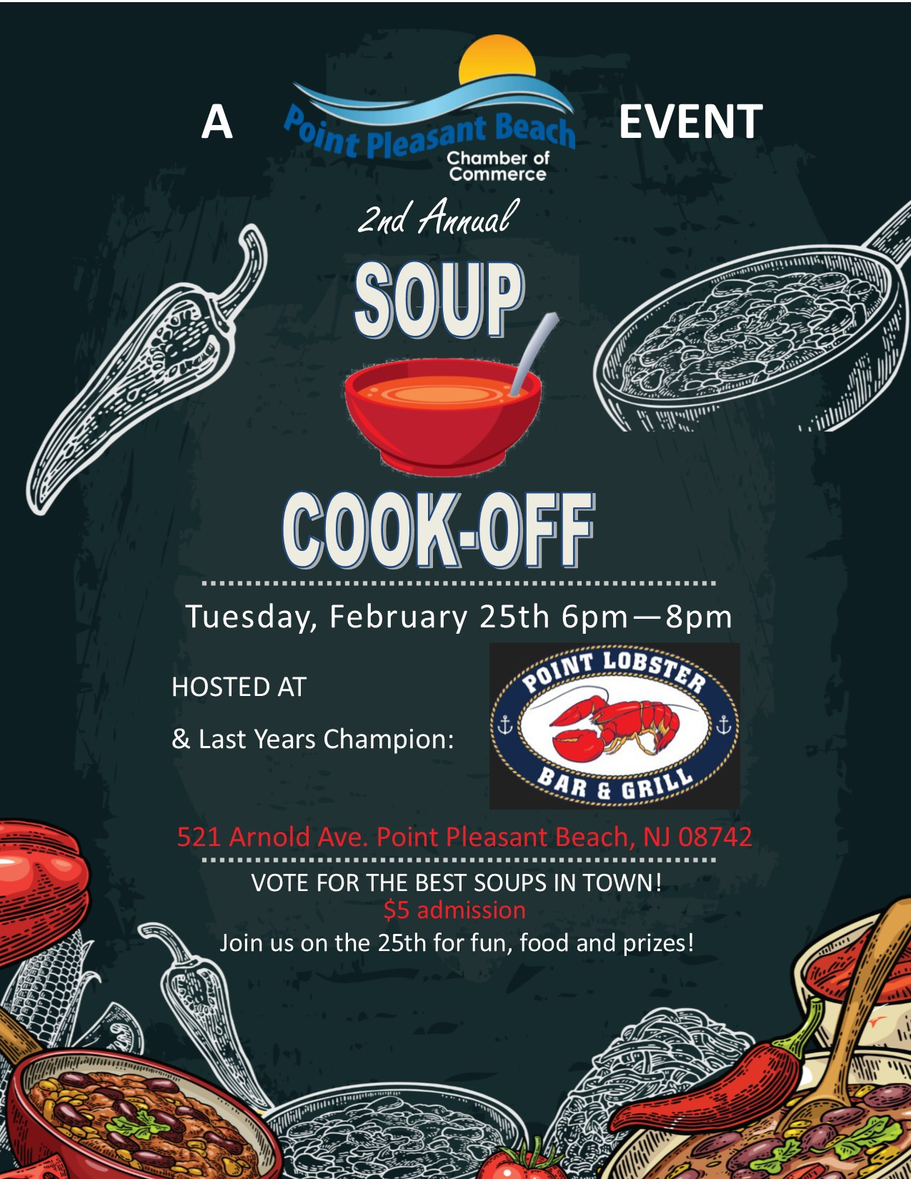 Point Pleasant Beach Chamber of Commerce's 2nd Annual Soup Cook Off