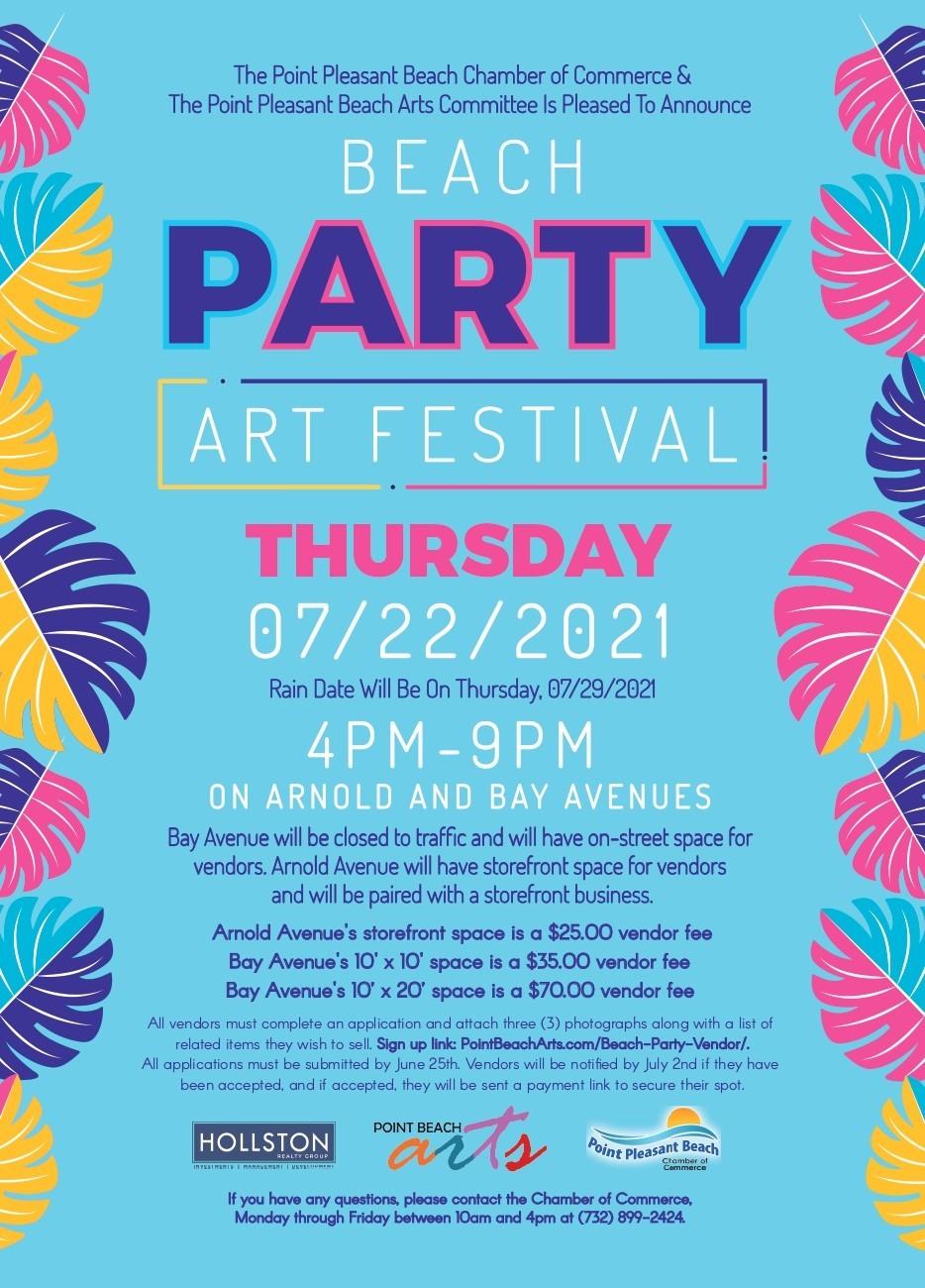 Beach Party - Art Festival @ Arnold Ave & Bay Ave